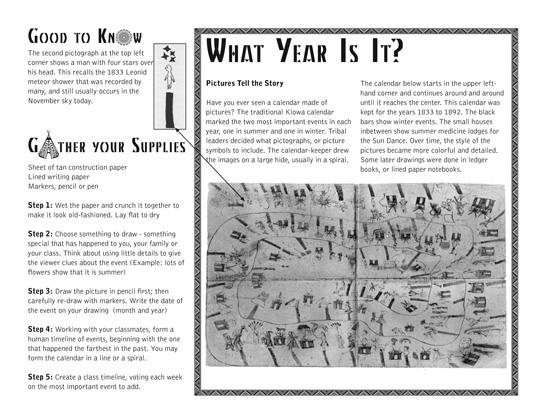 Kiowa Curriculum Sample Page