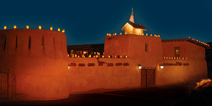 The Fort at night